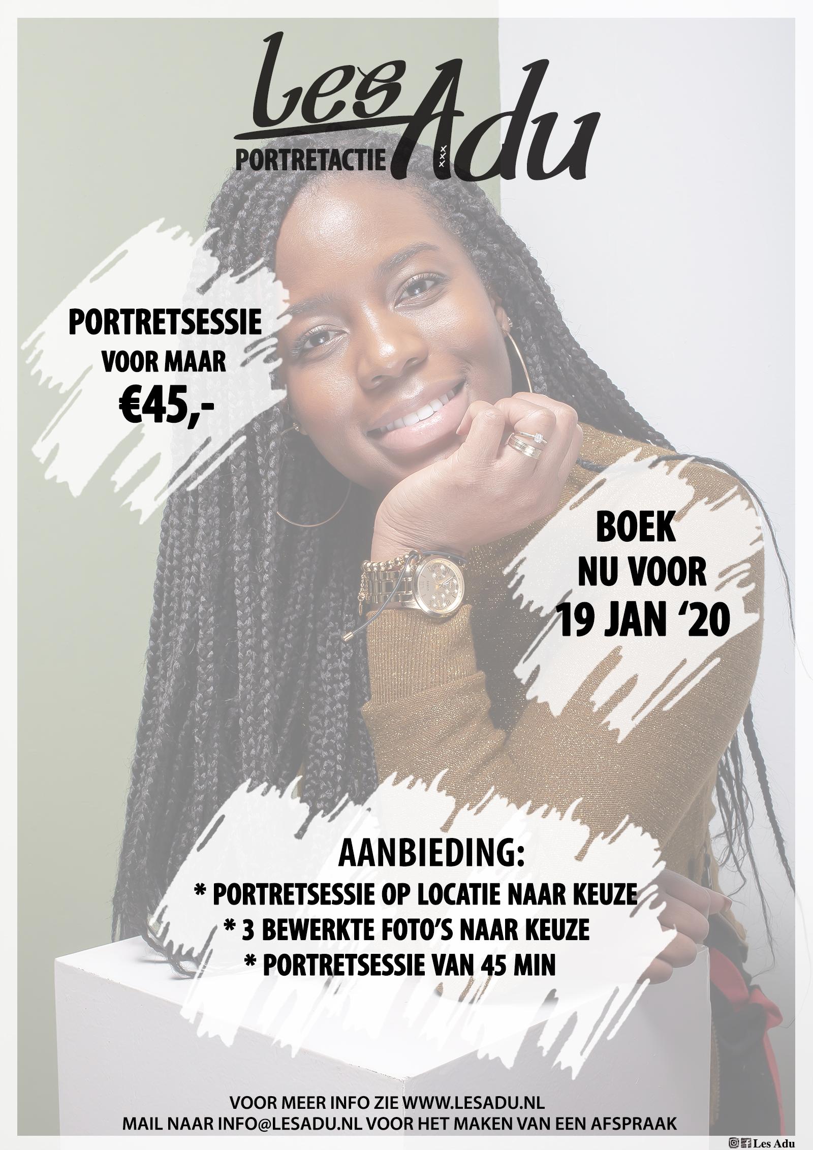 Portret Actie voor €45,-